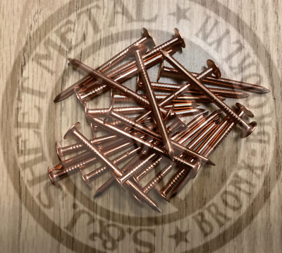 "2"" Smooth Shank Solid Copper Roofing Nails 11 Gauge (25 pcs)"