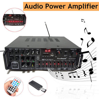 Car Audio Power HiFi Amplifier 326BT With Remote 00W-2000W Bluetooth 2.0 Channel