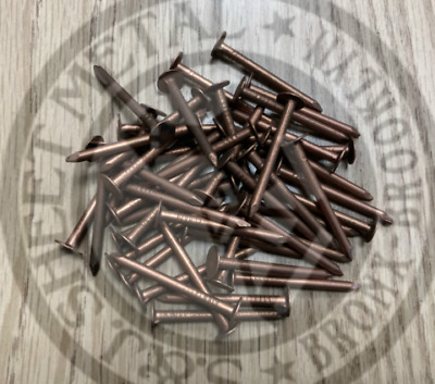 "1-1/2"" Smooth Shank Solid Copper Roofing Nails 11 Gauge (50 pcs)"