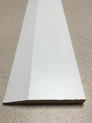 Mdf Pre Finished White Chamfered Skirting 120Mm X 15Mm X 2.4M
