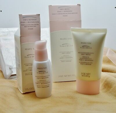 Mary Kay TimeWise Microdermabrasion Gift Set Step 1 Refine/Step 2 Replenish-NIB