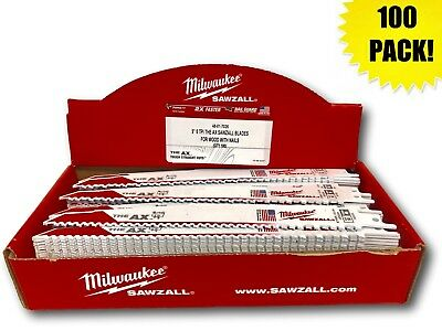 (100 PACK) Milwaukee 48-01-7026 9 in. 5 TPI The AX Recip Sawzall Blade IN STOCK