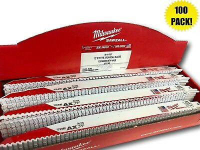 (100 PACK) Milwaukee 48-01-7027 12 in. 5 TPI The AX Sawzall Blade IN STOCK