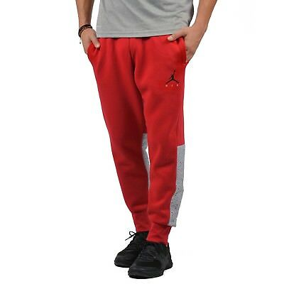 6e16bb7af0b6f4 MEN S AIR JORDAN FLIGHT FLEECE CEMENT SWEAT PANTS RED-GREY Size 3XL 884203  687
