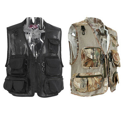Men Fly Fishing Vest Outdoor Breathable Hunting Hiking Fisherman Canoe Kayak