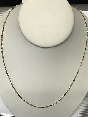 Beautiful Designer 14KT Yellow Gold Linked Thin Chain Necklace