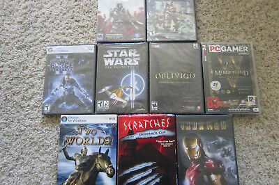 Lot of 9 PC Games, 2007-2011, genuine, NEW factory sealed
