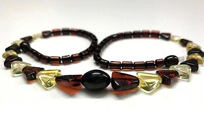 Natural Genuine Baltic Amber Polished Beads ladies Jewelry Necklace 10 gr.  #844