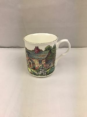 CROWN TRENT FINE BONE CHINA MUG/CUP, FLORAL,Cottage ,Staffordshire