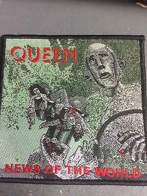 Official Licensed - Queen - News Of The World Sew-On Patch Rock Freddie Mercury