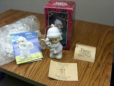 Mib 1992 Precious Moments Christmas Ornament Good Friends Are For Always 524131