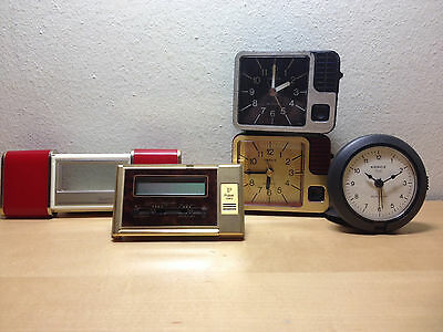 Used - VINTAGE - 5 Alarm Clock 5 - NOT WORKING THEY DO WORK
