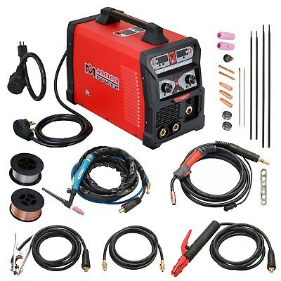 MTS-165, 165 Amp MIG/TIG/Stick Arc 3-in-1 Combo Welder, Can Weld Aluminum, 2T/4T