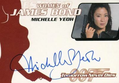 James Bond The Quotable James Bond Michelle Yeoh Autograph Card WA17