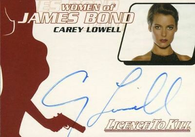 James Bond The Quotable James Bond Carey Lowell Autograph Card WA21