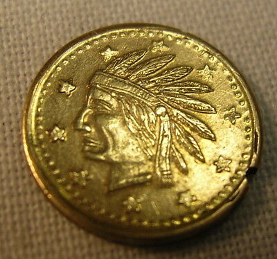 Tiny California Gold Souvenir Coin – Dated 1849 with Indian Head