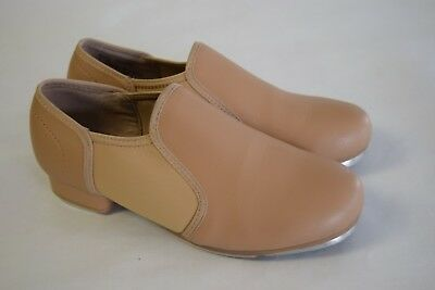 Theatricals - Girls - Tap Shoes - Boot Booties - Slip On - Tan - Dance - Size 1