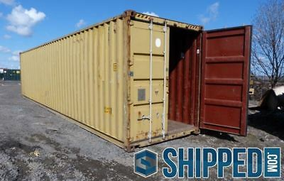 USED WWT SHIPPING CONTAINER in MASSACHUSETTS 40FT HIGH CUBE SECURE HOME STORAGE