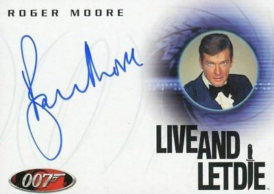 James Bond A29 The Quotable James Bond Roger Moore Autograph Card