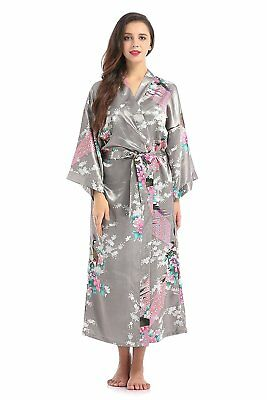 16aba8f7d5325 Lilywei New Wide Belt Robe Peacock Flower Long Maternity Hospital Gown, For  Moms