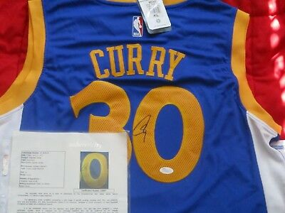 Stephen Curry  30 Signed Golden State Warriors Jersey Autograph Sz XL JSA  LOA NR 5195db09c