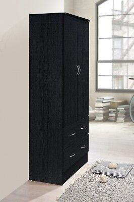 Tall Armoire Wardrobe Closet Cabinet Bedroom Furniture Clothes Storage  Organizer