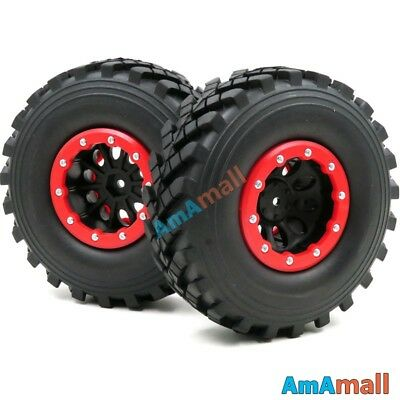 hobbysoul 4pcs RC 2.2 Crawler Tires Mud Trail Tyres 132mm Fit RC4WD Axial Gmade 2.2 Wheels