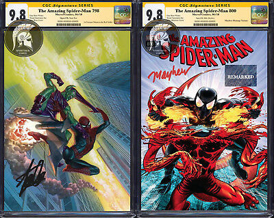 Amazing Spider-Man 800 Mayhew CGC 9.8 Remarked + ASM 798 Ross Signed by Stan Lee