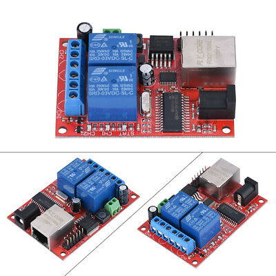 2 Way LAN Ethernet Network Relay Board Delay Switch TCP/UDP Controller Module