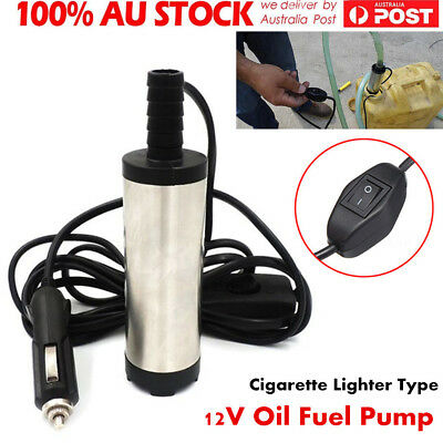 DC12V 38mm Submersible Pump Water Oil Diesel Fuel Transfer 12L/min 8700r/min AU