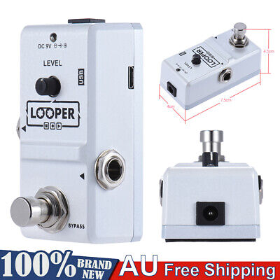 ammoon Nano Loop Electric Guitar Effect Pedal Looper True Bypass w/Cable 9V