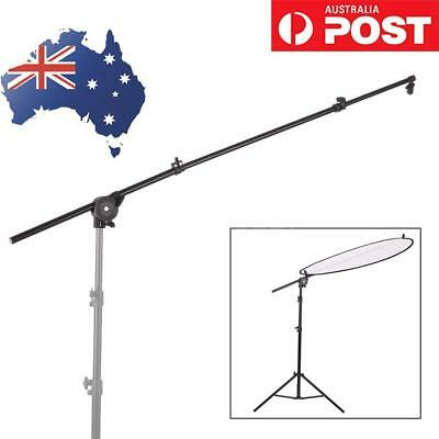 Extendable Studio Photography Reflector Diffuser Holder Stand Boom Arm+Clip F8P0