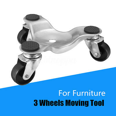 Mobile Industrial Universal Three Wheels Moving Dolly Move Tool Heavy