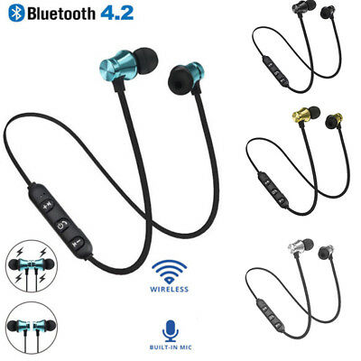 Bluetooth 4.2 SPORT Earphone Headset Wireless Magnetic In-Ear Earbuds Headphone