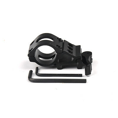 "QD 25.4mm 1"" Ring Side Offset Rail Scope Mount For Flashlight Torch Laser"