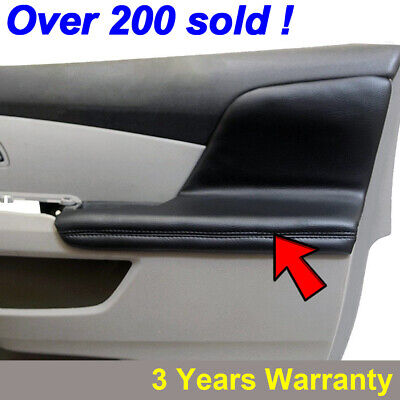 2pcs Door Armrest Replacement Cover Leather For Honda Odyssey 2011-2017 Black