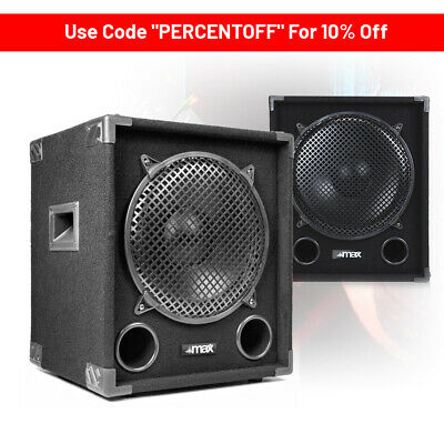 "CHOICE Max Passive Bass Bin DJ Disco Sub Party PA Subwoofer 12"" 15"" 800-1200W"