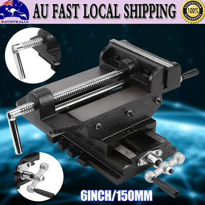 """6"""" 150mm Cross Slide Vice 2 Way Drill Press Vice Clamp Milling Industrial Level"""