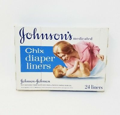 RARE Vintage Johnson's and Johnson's baby Chix diaper liners prop/decoration