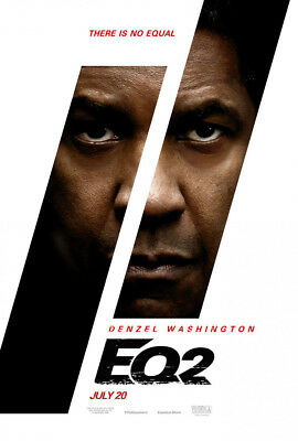 THE EQUALIZER 2 MOVIE POSTER 2 Sided ORIGINAL Advance 27x40 DENZEL WASHINGTON