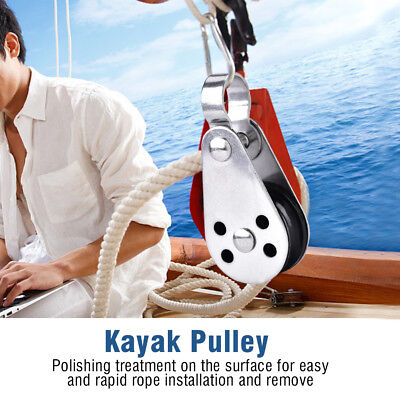 Marine Grade 316 Stainless Steel Pulley for Kayak Canoe Boat Fishing ZY