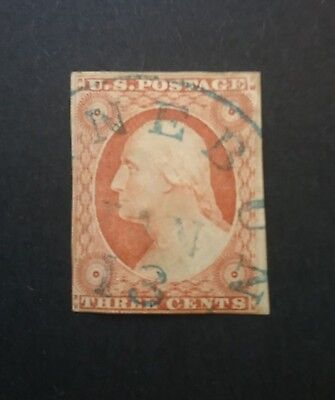 US 1851 Washington 3c imperf used