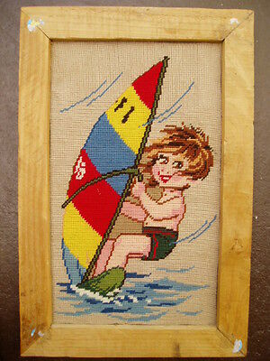 Windsurfing Baby Cross-Stitch Art