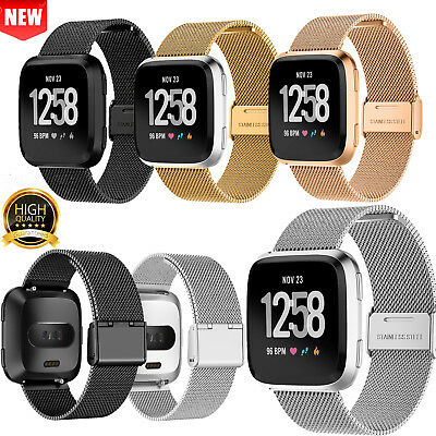 Milanese Loop Mesh Watch Wrist Band For Fitbit Versa Stainless Steel Metal Strap