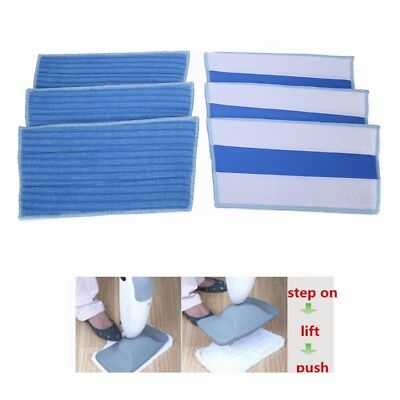 6x Replacement Microfiber Cleaning Pads Floor Cloth For Haan Steam Mop 13x6.7''