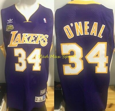 SHAQUILLE O' NEAL Los Angeles Lakers 2001 FINALS Road THROWBACK Swingman Jersey