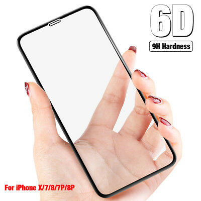 6D Full Coverage Tempered Glass Screen Guard Protector For Apple iPhone X