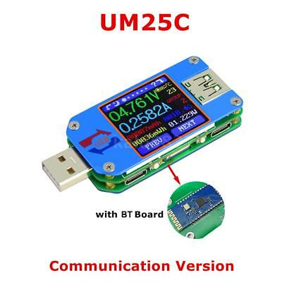 RD UM25C USB 2.0 Voltmeter Ammeter Tester Voltage Current Meter Ohm Measure O5C2