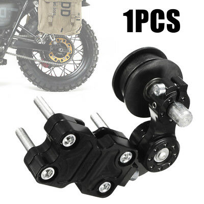 Universal Aluminum Adjuster Chain Tensioner Roller For Motorcycle Chopper Black
