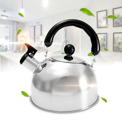 2L Stainless Steel Whistling Kettle Kitchen Caravan Camping Parts Accessory AU